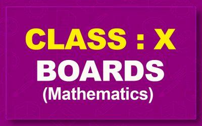 10th Mathematics : Boards