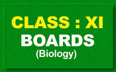 11th Biology : Boards (2021-22)