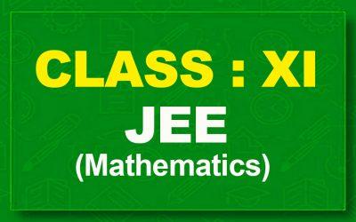 11th Mathematics : JEE