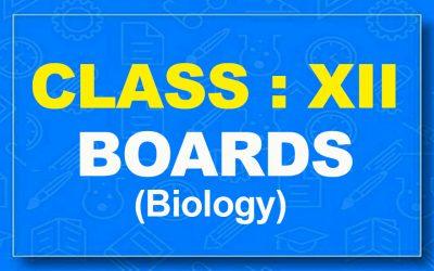 12th Biology : Boards (2021-22)