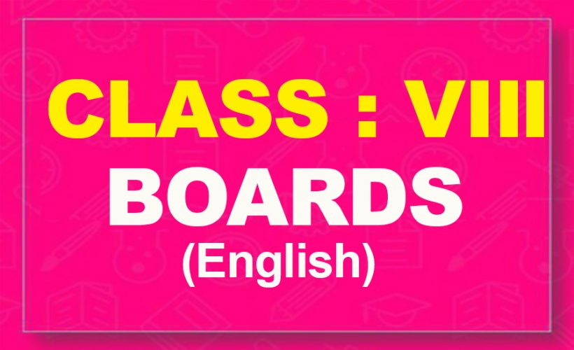 8th English : Boards (2021-22)