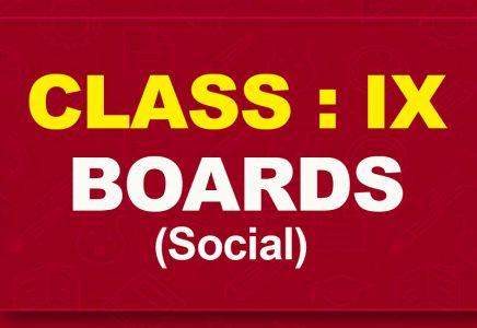 9th Social : Boards (2021-22)